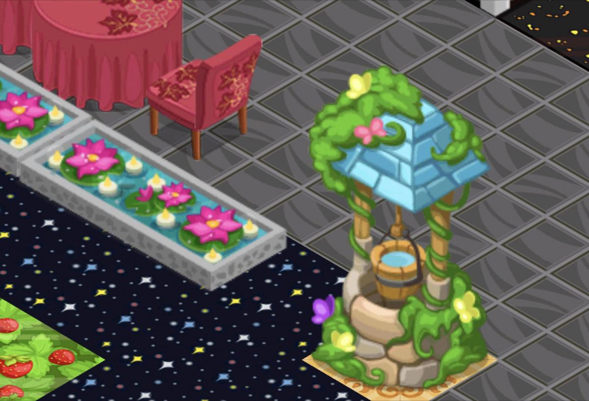 Click image for larger version.  Name:Wishing Well & Flower Pond.jpg Views:0 Size:111.7 KB ID:59800
